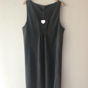 Eileen Fisher XL V Basket Crepe Gray Dress